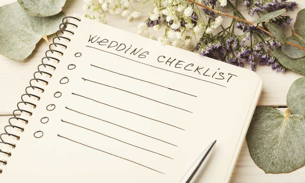 Checklist d'organisation de mariage