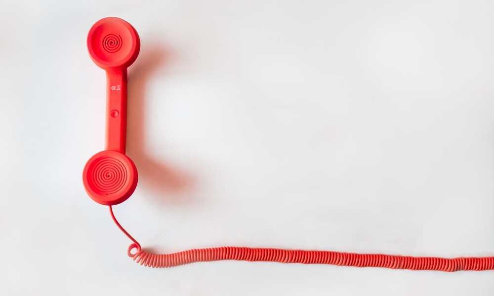 Téléphone rouge vintage