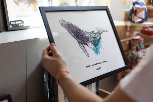 Création artistique image baleine