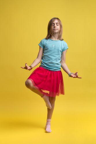 Portrait photo créatif d'une petite fille